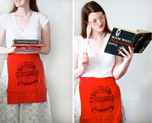 Apron made from recycled/upcycled t-shirt by Ruffles and Stuff