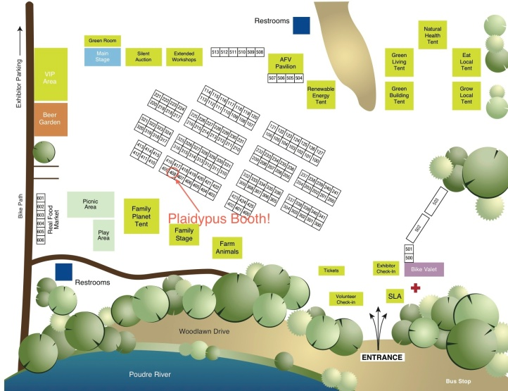 Sustainable Living Fair Exhibitors Map 2014 - Plaidypus booth