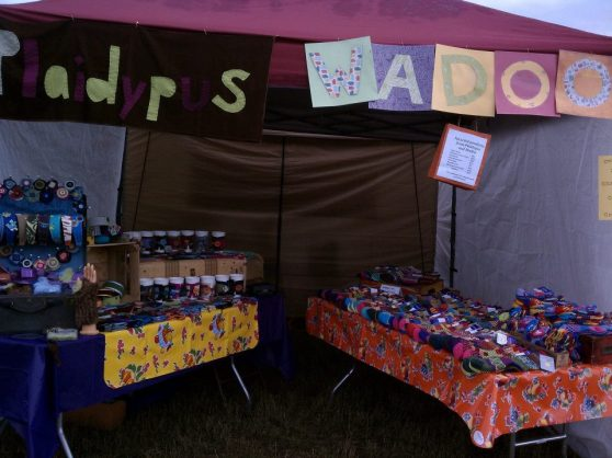 Plaidypus and Wadoo Exhibitor Booth for Sustainable Living Fair 2011