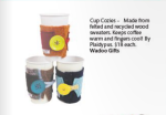 Plaidypus felted wool coffee cup cozy featured in coloradoan gift guide