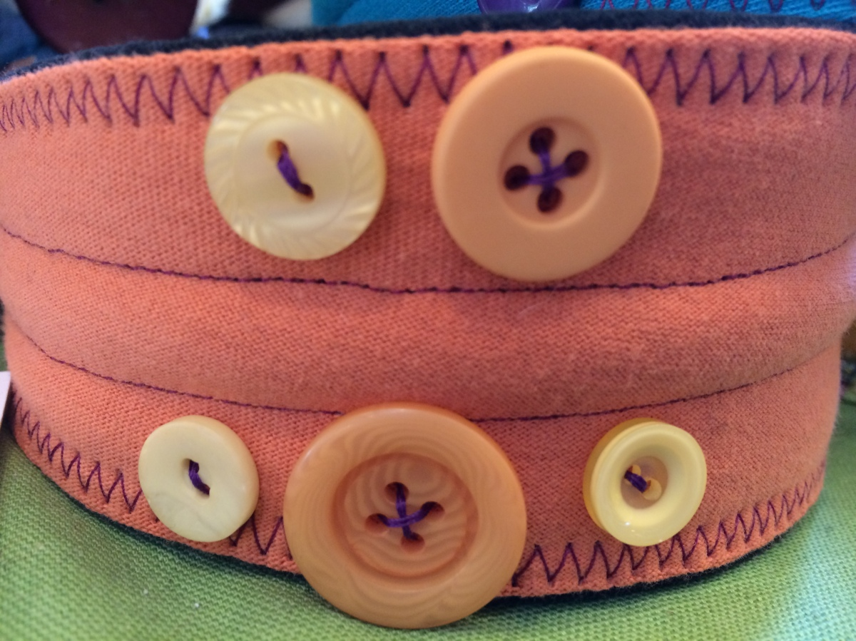 Plaidypus upcycled recycled t-shirt headband