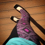 plaidypus looking glass leggings magenta pink lily pollen neuroscience fashion